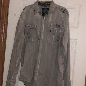 Roar size xxl button up shirt